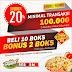 Double Promo : Beli 10 Box Dapat 12 Box, Transaksi 100 Rb Diskon 20%