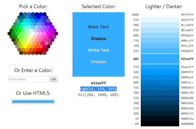 W3Schools Color Picker