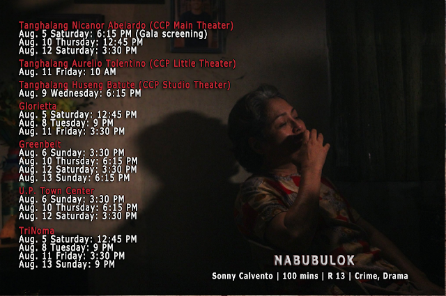 NABUBULOK cinemalaya schedule