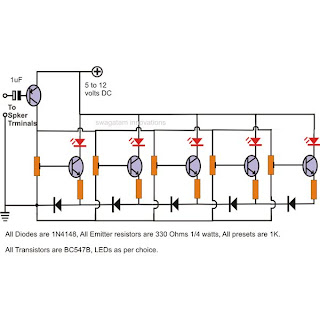 LED Music Level Indicator Circuit Diagram ~ Electronic