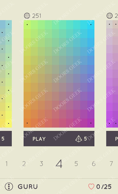 I Love Hue Guru Level 4 Solution, Cheats, Walkthrough