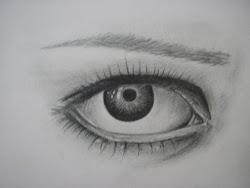 eye drawing female simple