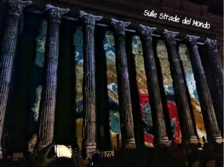 Il Tempio di Adriano si accende di luci nuove