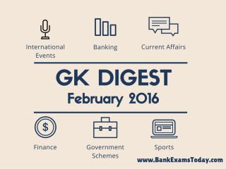 GK Digest - February 2016
