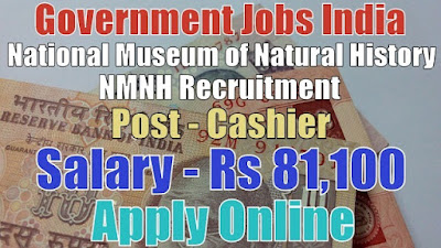 National Museum of Natural History NMNH Recruitment 2017