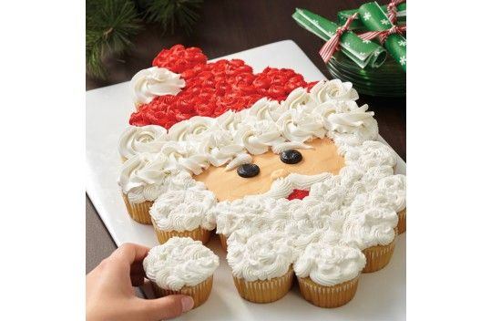 The cupcake Santa Cake