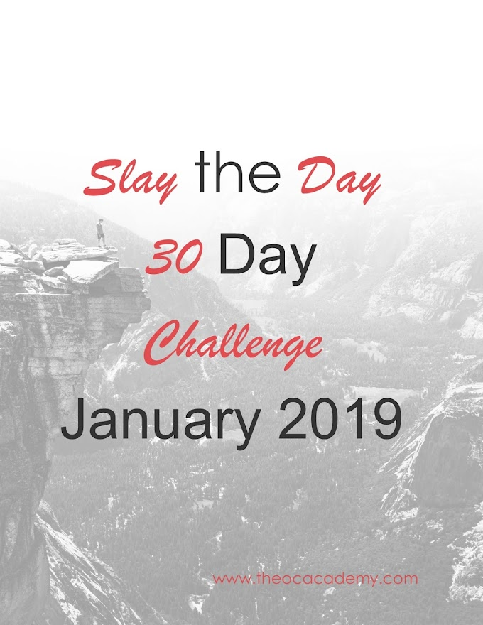 Slay the Day | 30 Day Challenge  | January