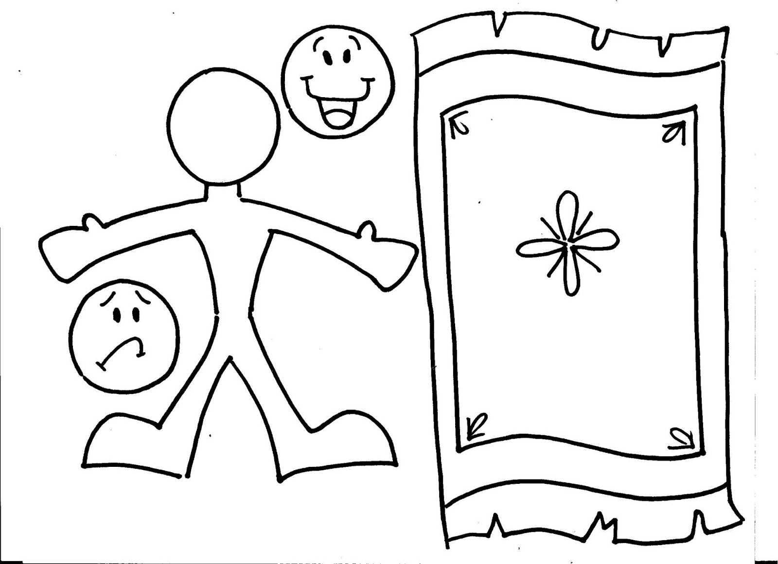Heals Paralyzed Inside Coloring Page: The Mixed Up Mama: The Paralyzed Man
