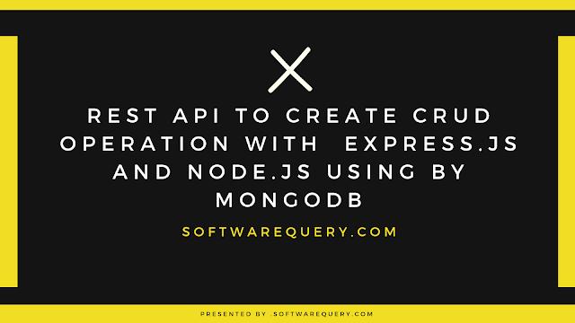 Restful CRUD API with Node.js, Express and MongoDB