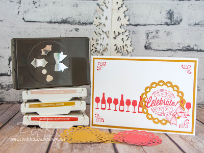 Make In A Moment Here's To Cheers Birthday Card made with Stampin' Up! UK Supplies - buy Stampin' Up! here in the UK