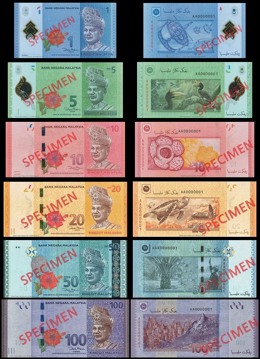 Asian Coin and Banknote News: Malaysia: New 4th series banknotes 2012