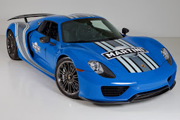 World's Only Voodoo Blue Porsche 918 Martini To Be Auctioned
