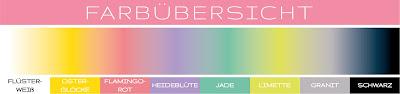 Stampin' Up! rosa Mädchen Kulmbach: Grußkarte mit Regenbogenhintergrund mit Bunt gemischt und Framelits Kreative Vielfalt