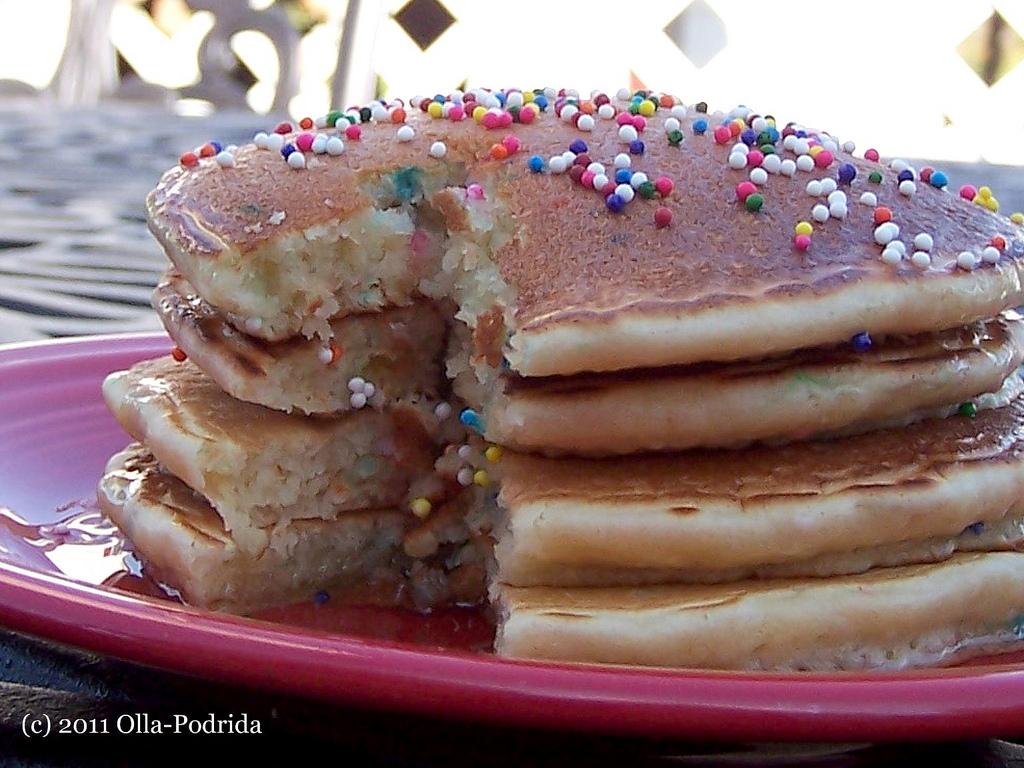 Olla Podrida Cake Mix Pancakes