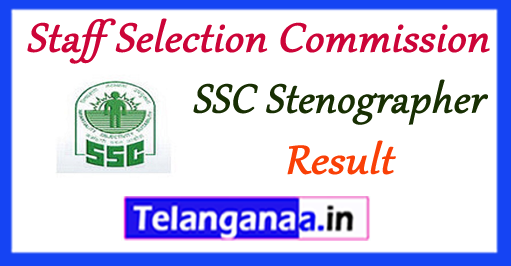 SSC Staff Selection Commission Stenographer Result 2017 Merit List