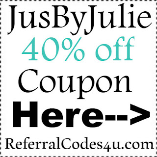 40% off Jus By Julie Coupon Jan, Feb, March, April, May, June, July, Aug, Sep, Oct, Nov, Dec