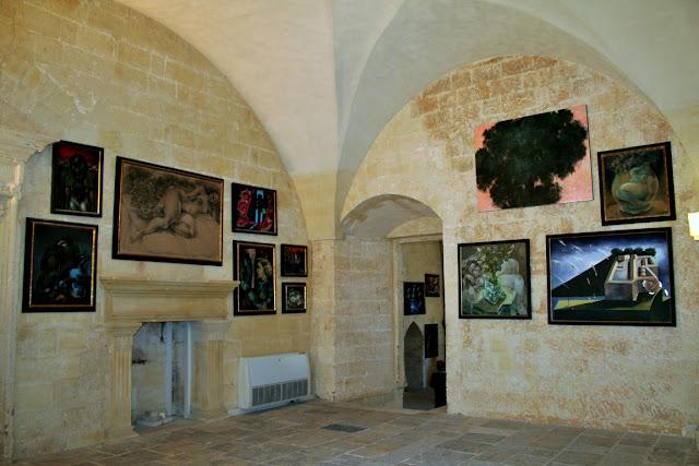 stanza, castello, esposiozione, quadri