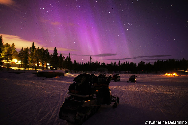 Snowmobile Under the Northern Lights Outdoor Winter Activities in Sweden's Lapland