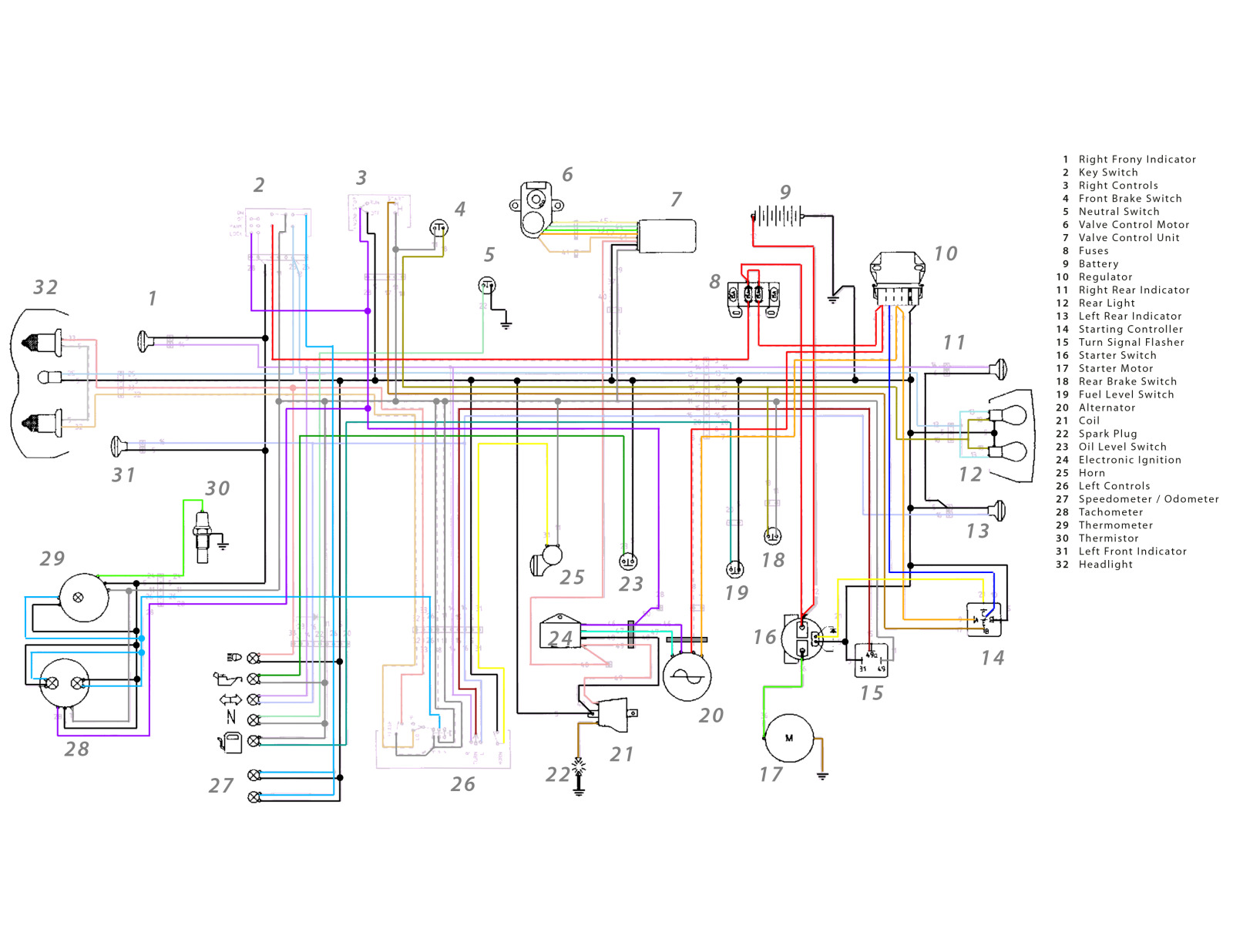 Wire Diagram Wiring Schematic Cagiva Mito 125 Cagiva Mito 125 Wiring Diagrams