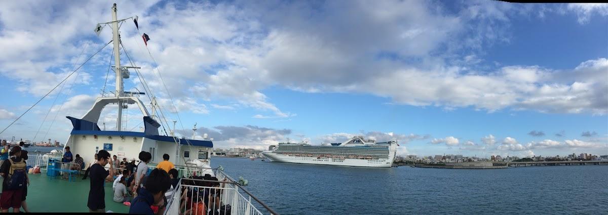 沖縄で出会ったクルーズ客船「Golden Princess」(ゴールデン・プリンセス) | 2016-12 の日々雑感
