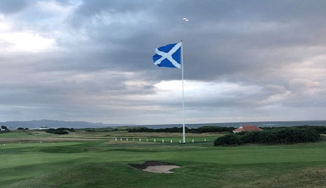 Trump's visitors! Four UFOs are spotted flying over US president's Scottish golf course