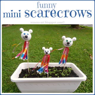mini scarecrows  wesens-art.blogspot.com
