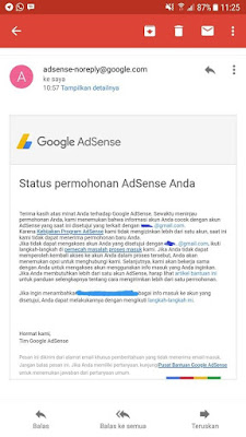 adsense ditolak karena email terkait