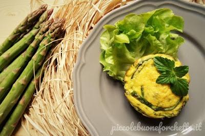 foto Ricetta frittata di asparagi al forno al profumo di nipitella per bambini