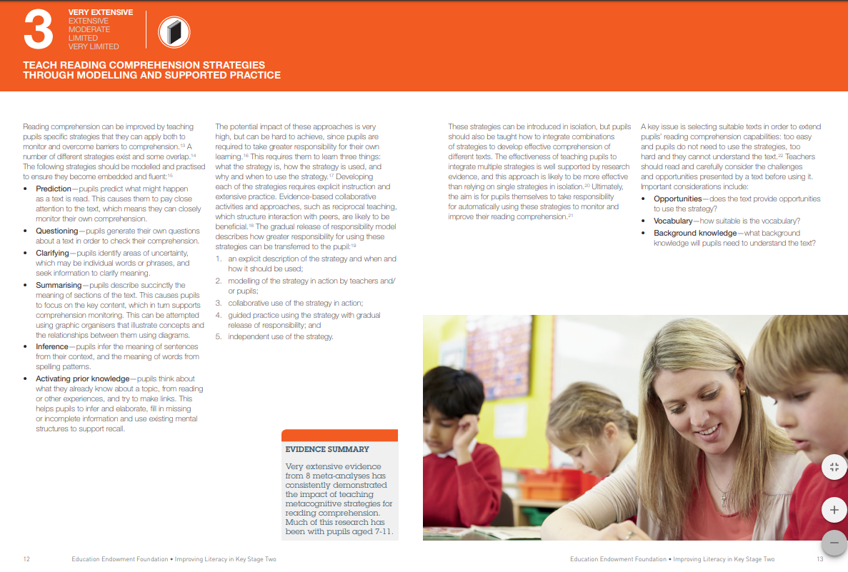 research on teaching reading