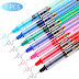 ✔ The best Rolling Ball Pens Colour Pens, Assorted Colors Quick-Drying Ink, Black, Pink, Dark Blue, Light Blue, Green, Purple, Red, Skip-Free Writing, 0.5 mm Extra Fine Point Pens Rollerball Pens (7 Pieces) ☞ 2019