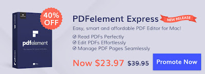 20% Discount Coupon Code on Wondershare PDFelement 6 for Win, 40% Discount Coupon Code on Wondershare PDFelement Express for Mac