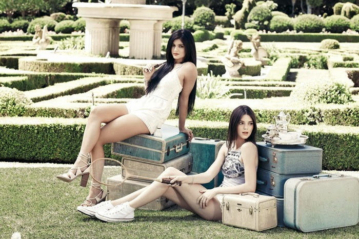 Kendall and Kylie Jenner pose for the PacSun Summer 2015 Lookbook
