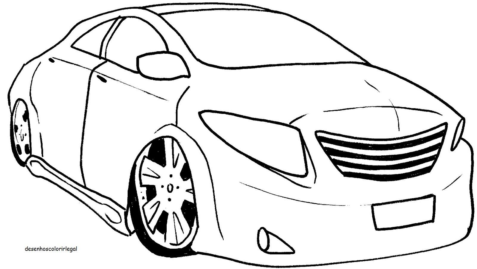 desenhos colorir legal desenho de carro traÇos simples para colorir