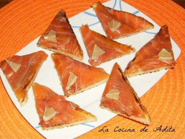 Canap s de salm n ahumado la cocina de adita for Canape de salmon ahumado