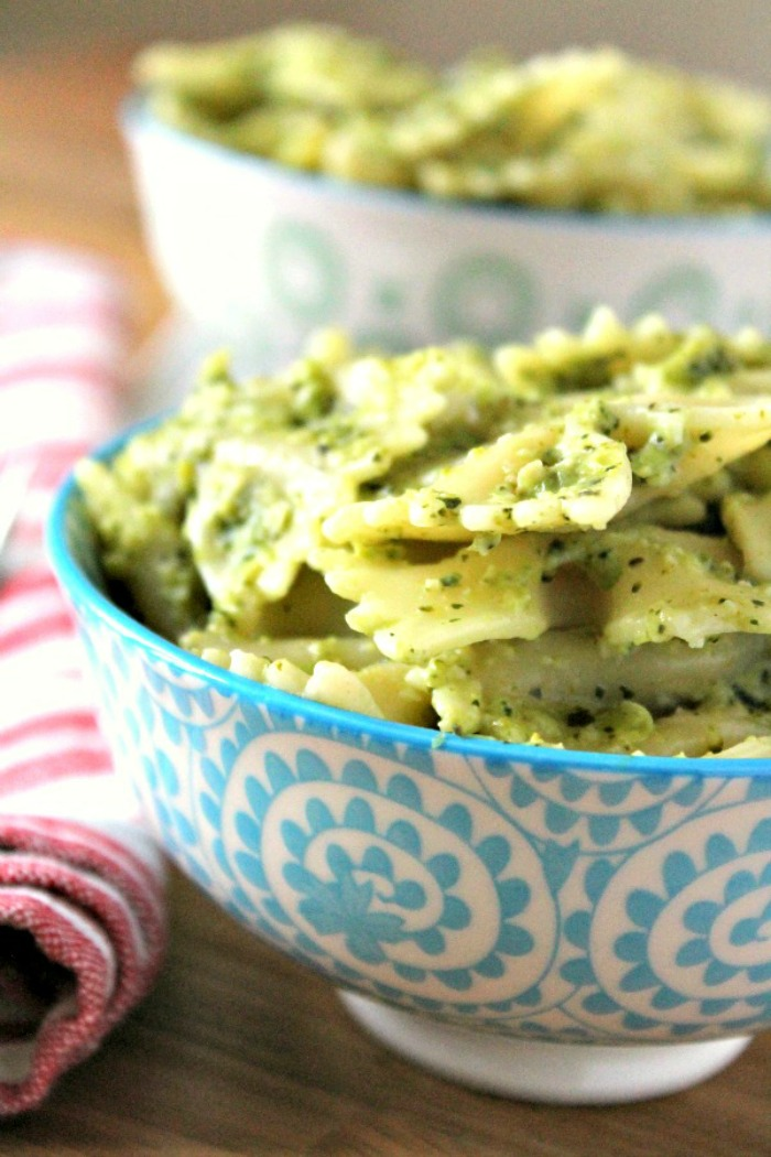 Broccoli and Pea Pesto Pasta