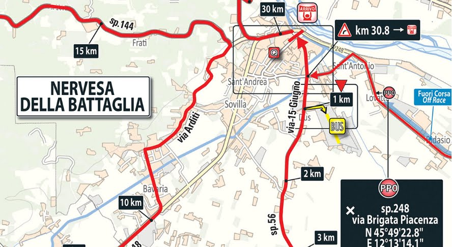 DIRETTA GIRO d'Italia ciclismo: partenza Ferrara arrivo Nervesa della Battaglia, tappa live streaming gratis su Rai TV