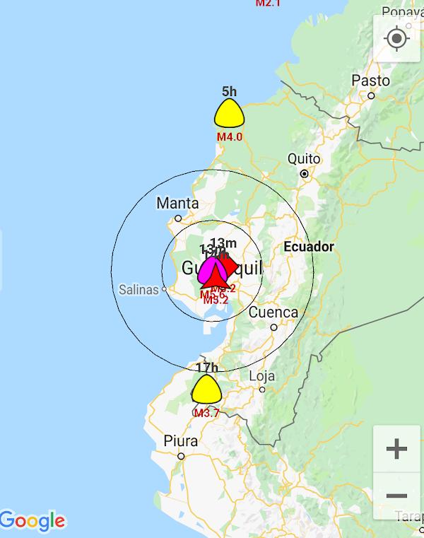 ÚLTIMA HORA: reportan sismo en Ecuador.