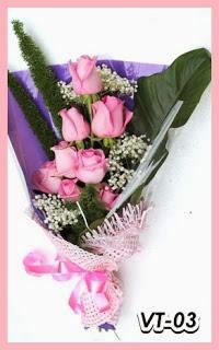 Bunga Tangan Mawar Pink