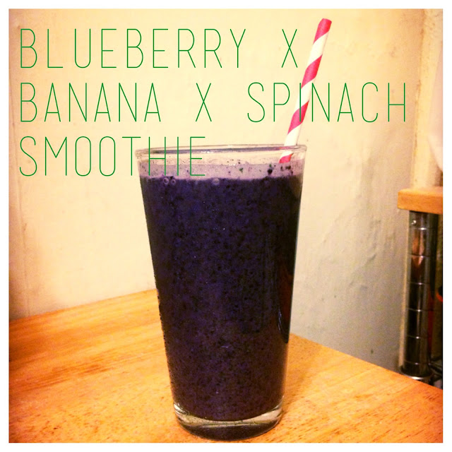Eating Fabulously, Christopher Stewart, blueberry banana and spinach smoothie