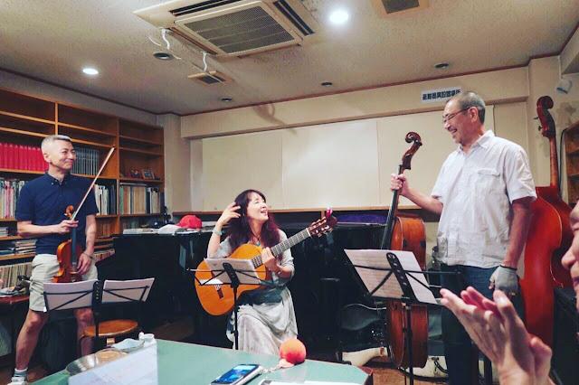 ファドも計画:vocal+guitar:さがゆき/violin:喜多直毅/cello:翠川敬基