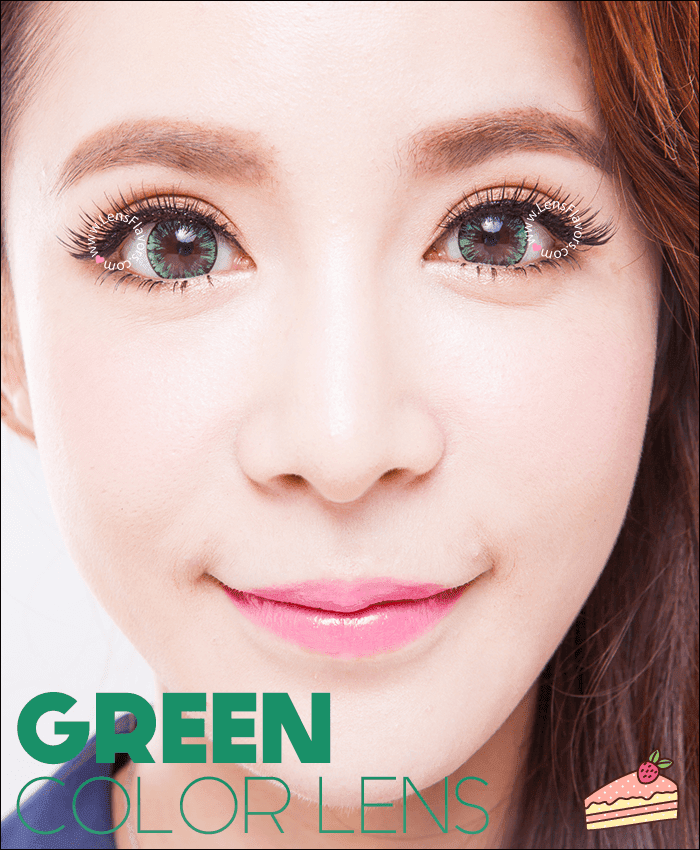 eosice green colored contacts