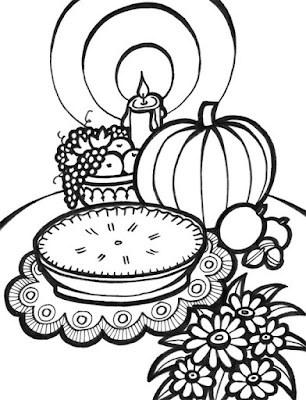 small thanksgiving coloring pages for kids