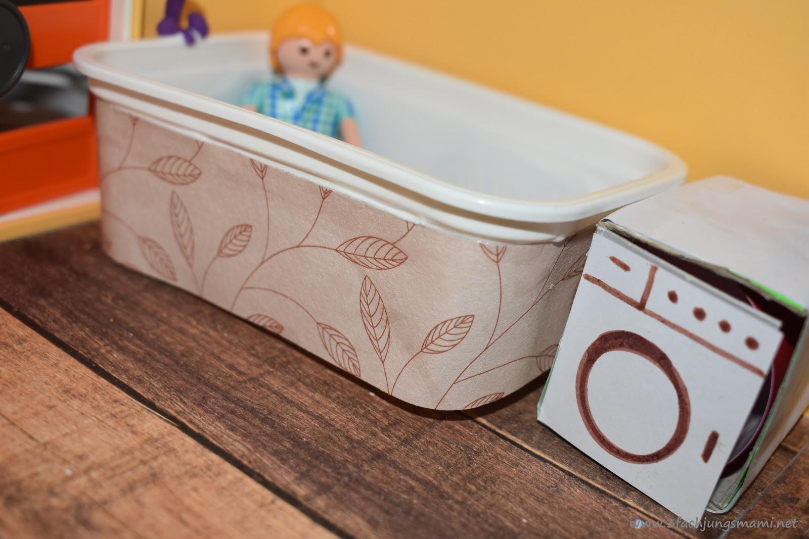 DIY  Wir basteln ein Playmobil Badezimmer  3fach Jungsmami