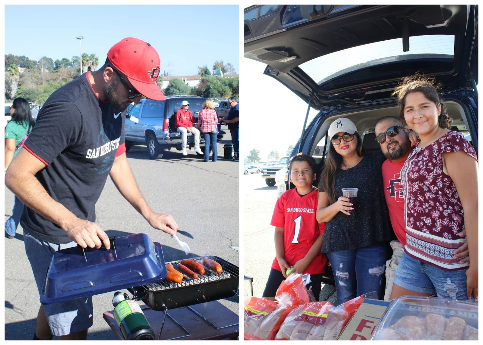 college football tailgate party, san diego state, san diego blogger