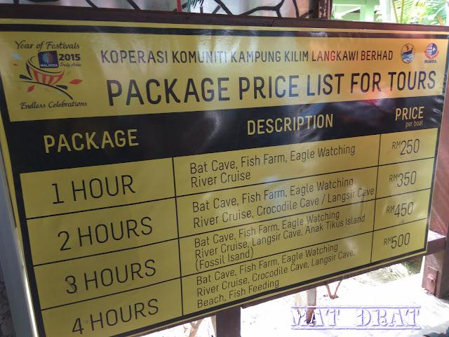 Tempat Menarik di Langkawi Mangrove Tour KILIM Geopark Harga