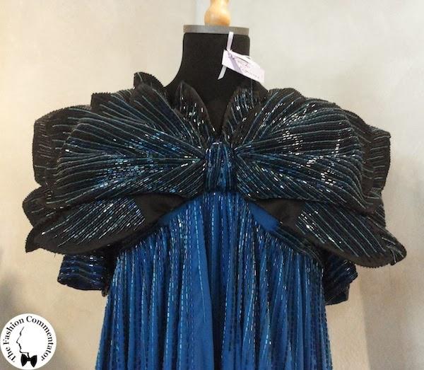 Valentina Cortese - Mostra Milano - Roberto Capucci embroidered dress