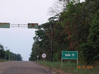 Inicio da BR-319 saindo de Humaitá-AM
