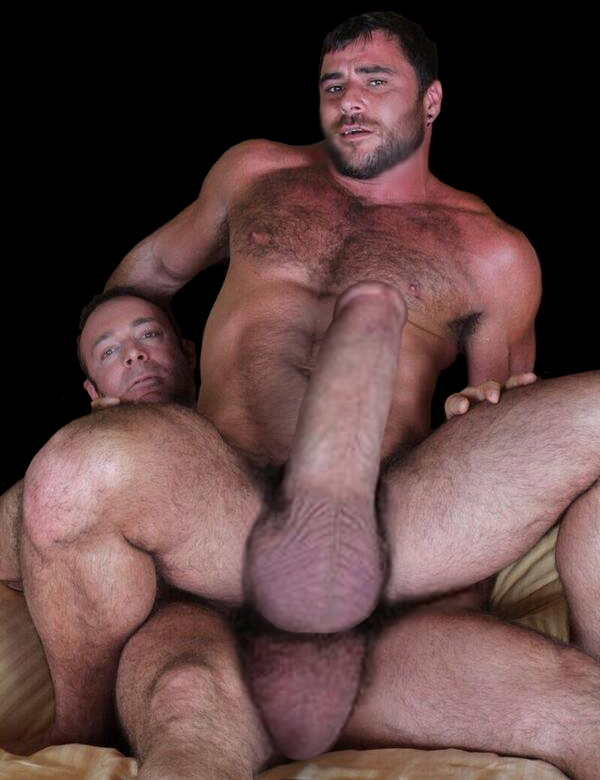 Gigantic Huge Meat: A porn bear cub takes his buddy's thick ...