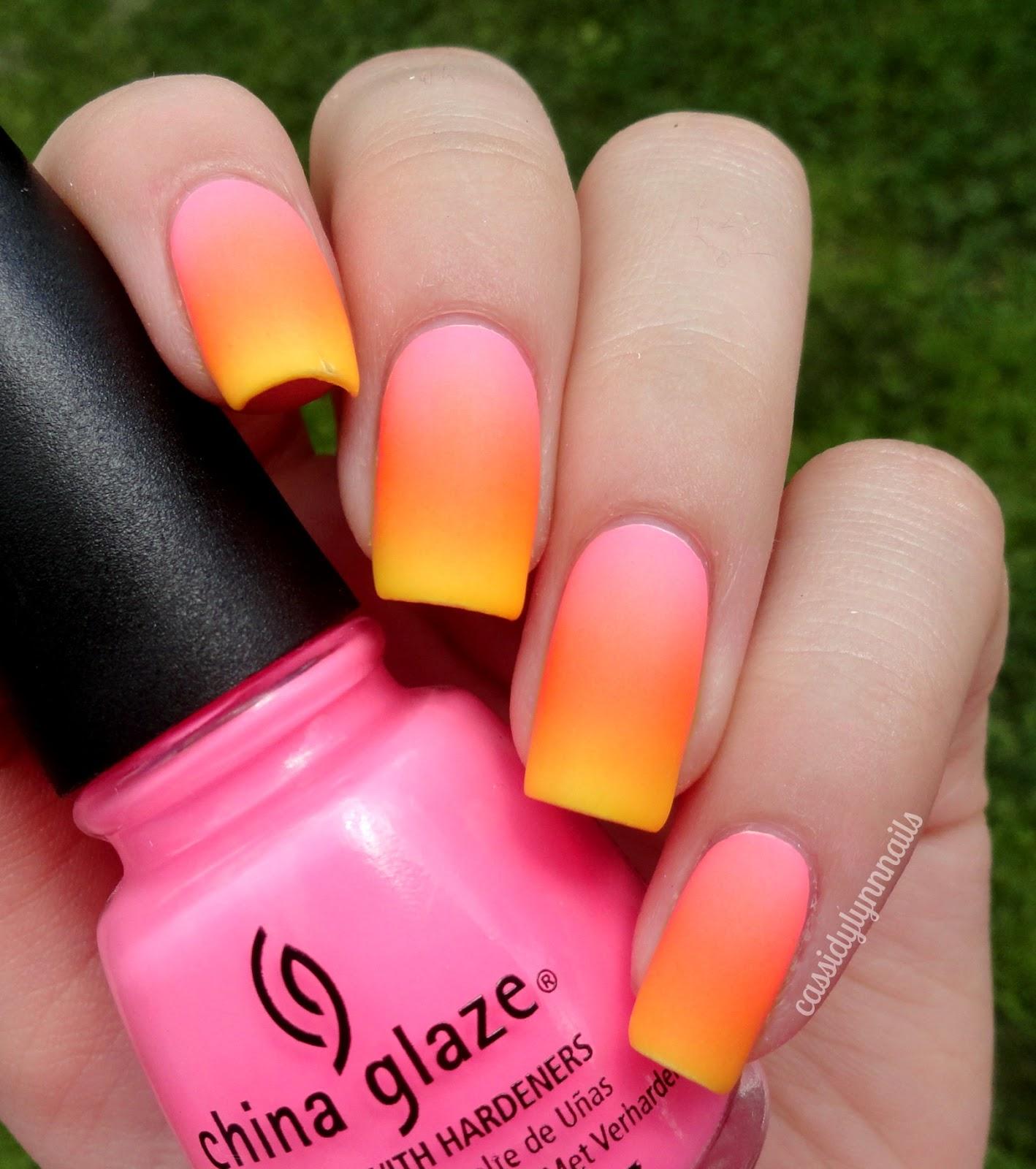 yellow matte nails - photo #21