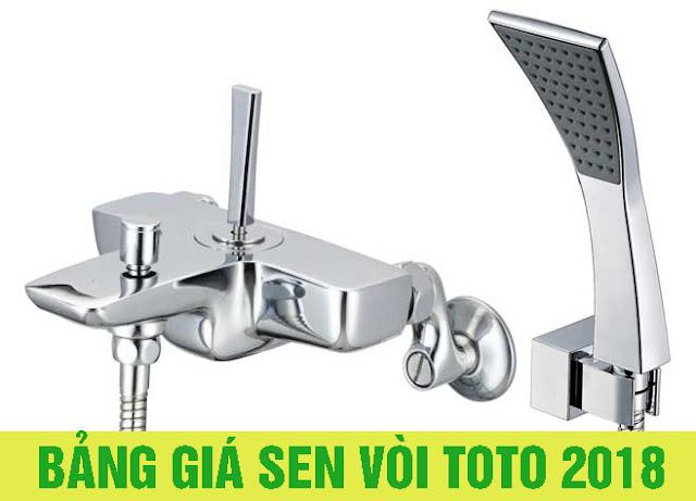 Bảng giá sen vòi TOTO 100% giá gốc 2018 chính hãng